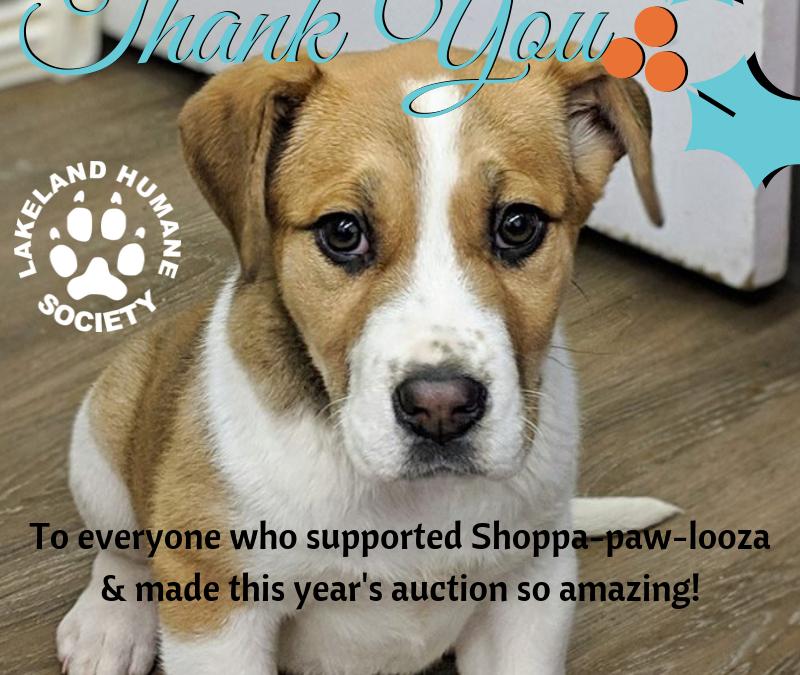 Shoppa-paw-looza Thank You!