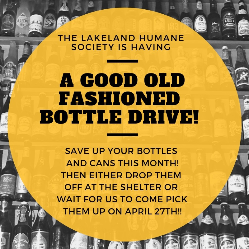 WE are having a good old fashioned bottle drive!